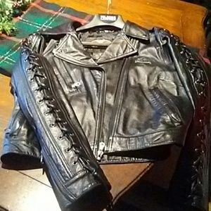 Authentic Harley Davidson jacket and vest